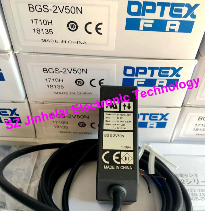 New and original  BGS-2V50N  OPTEX   PHOTOELECTRIC SWITCH  Photoelectric sensor, NPN output new and original v4r 1200 optex photoelectric switch photoelectric sensor