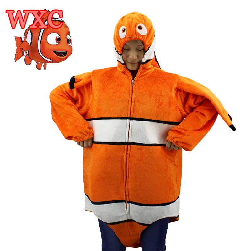 Clown fish nemo mascot costume anime finding memo adult for Clown fish costume