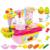 Brinquedos dos miúdos Das Crianças DIY Brinquedo Cozinha Conjunto De Cozinha De Plástico ABS luz Criança Ferramentas de Frutas Cozinhar Alimentos Role Play Cosplay Educacional brinquedos