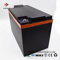 12V 100AH Lifepo4 Lithium Iron Phosphate LFP Battery Pack with BMS CCA 1200A for Car Battery Golf Electric Folklift Black Case