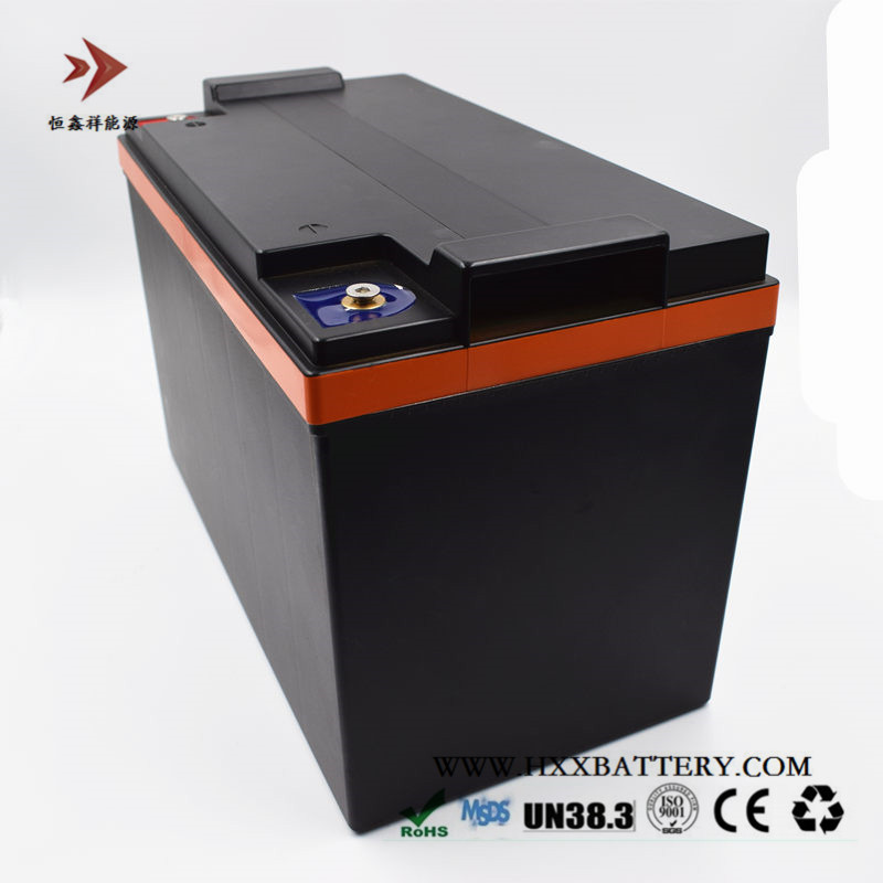 Personalizado 12.8 V 100AH Lifepo4 Bateria Embutida BMS Grande 250A para Bateria de Carro de Golfe Elétrico Carrinho de Ampere Folklift