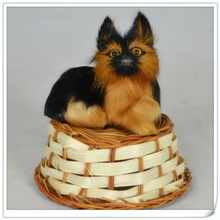 free shipping, 8x7cm German shepherd model toy,polyethylene & furs resin handicraft,props,decoration gift d0160