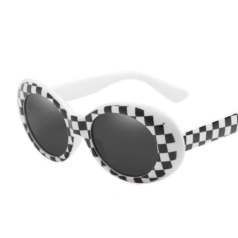 caad6630676 Kurt Cobain Oval Sunglasses Women Men Retro Round Mens Sun Glasses Pink White  Clout Goggles Hip