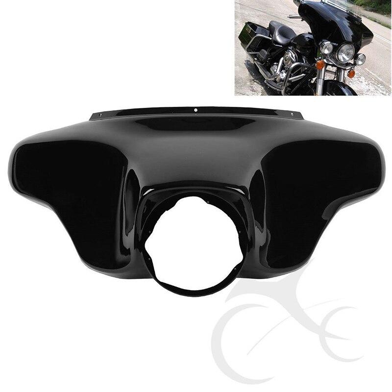 Vivid Black Front Batwing Upper Outer Fairing For Harley Touring Models Road King Electra Street Glide