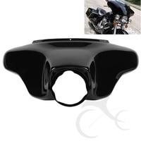Vivid Black Front Batwing Upper Outer Fairing For Harley Touring Models Road King Electra Street Glide FLHR FLHT FLHX 96 13 97
