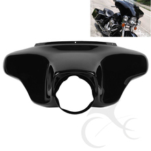 Vivid Black Front Batwing Upper Outer Fairing For Harley Touring Models Road King Electra Street Glide FLHR FLHT FLHX 96-13 97 front batwing upper fairing cowl for harley fl touring models 1996 2013 electra street glide road king flhr