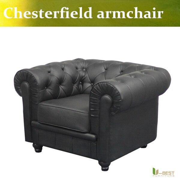 U BEST HOCHWERTIGEN Stoff Chesterfield Sofa Einzelsitz Sessel