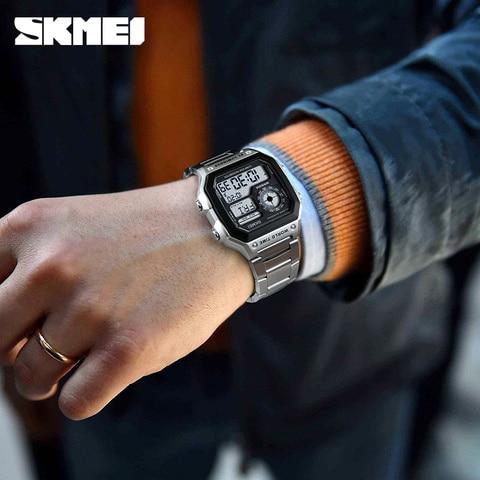 Countdown Compass Sport Watch SKMEI Mens Watches Top Brand Luxury Wrist Watch Men Waterproof LED Electronic Digital Male Watch Multan