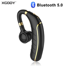 XGODY FC1 Single Wireless Headset Ear Hook With Volume Control Noise Cancelling Bluetooth 5.0 Earphone Headphone For Android IOS