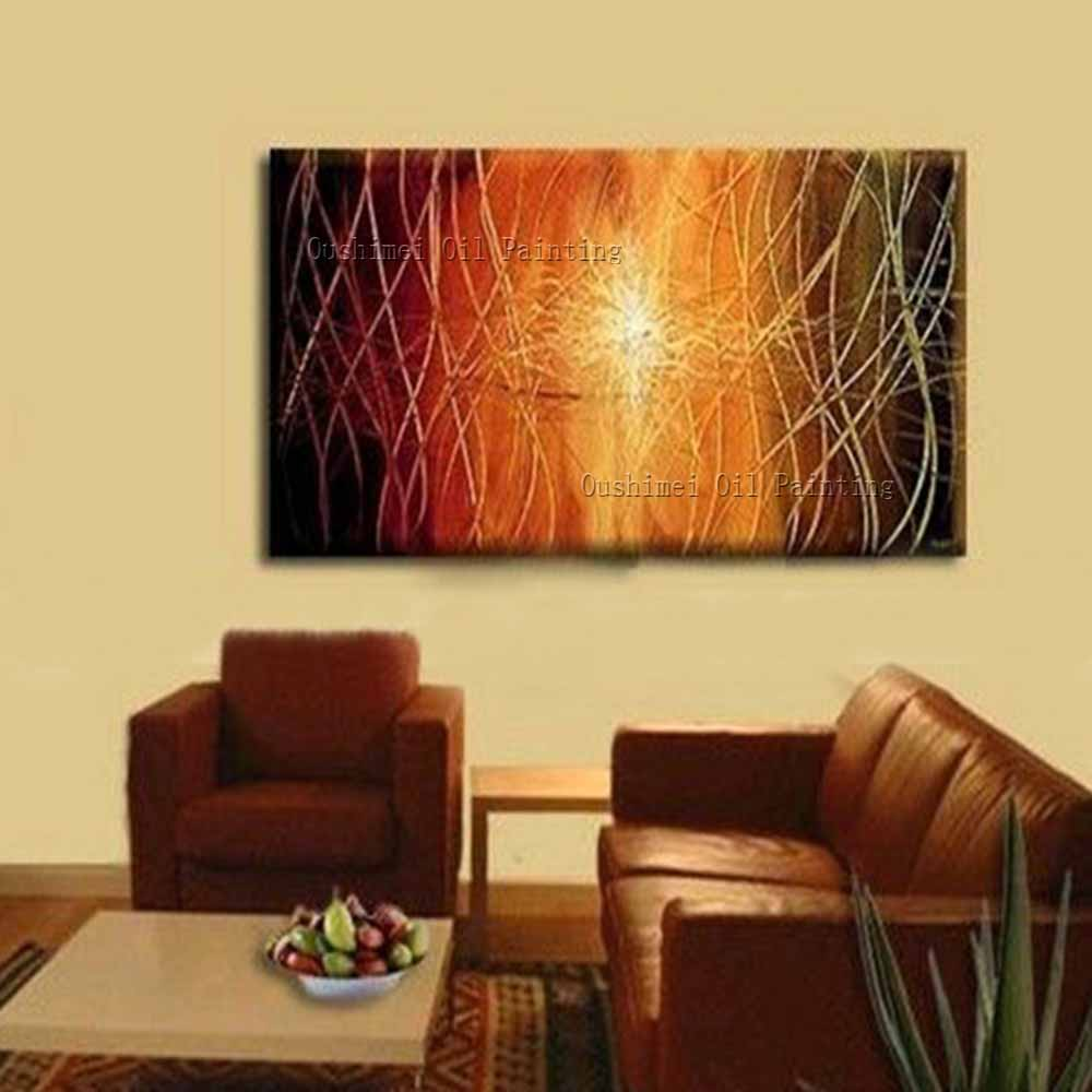 New Hand Painted Modern Creative Abstract Picture on Canvas Wall Art ...