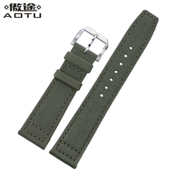 Nylon Watchbands For IWC PILOT Men Watch Straps 20mm 21mm 22MM Leather Watch Band Top Quality NATO Male Watch Strap Clock Saat strap