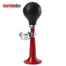 OUTERDO Bicycle Bike Cycling Retro Metal Air Horn Hooter Bell alarm Bugle Rubber Squeeze Bulb Light