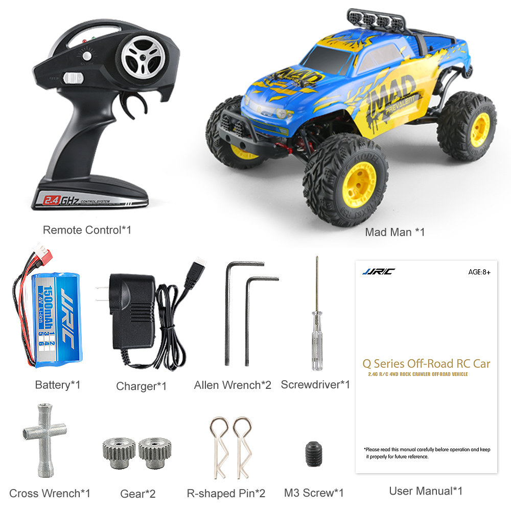 JJRC Q40 1/12 Scale 40km/h Electric RC Car 2.4G 4WD Short-Course Truck Remote Control Car Toy for Kids Christmas Gift Spare Part