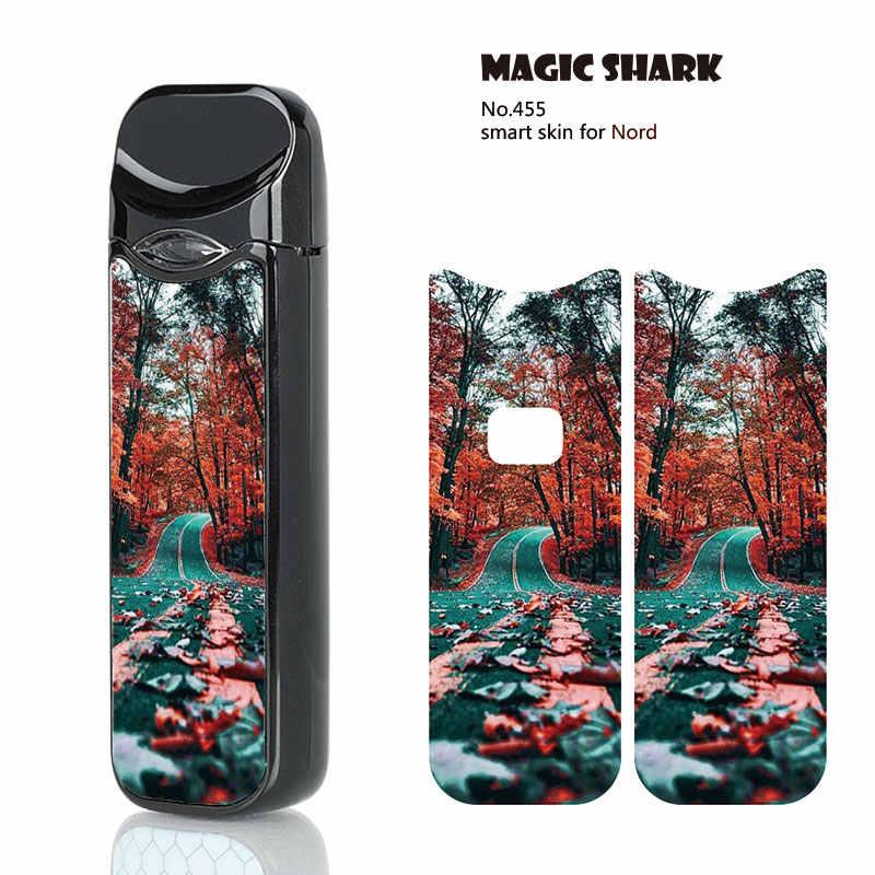 Magia tiburón de seda de oro cereza atrás espero nueva PVC No se desvanecen caso etiqueta de la película para humo Nord