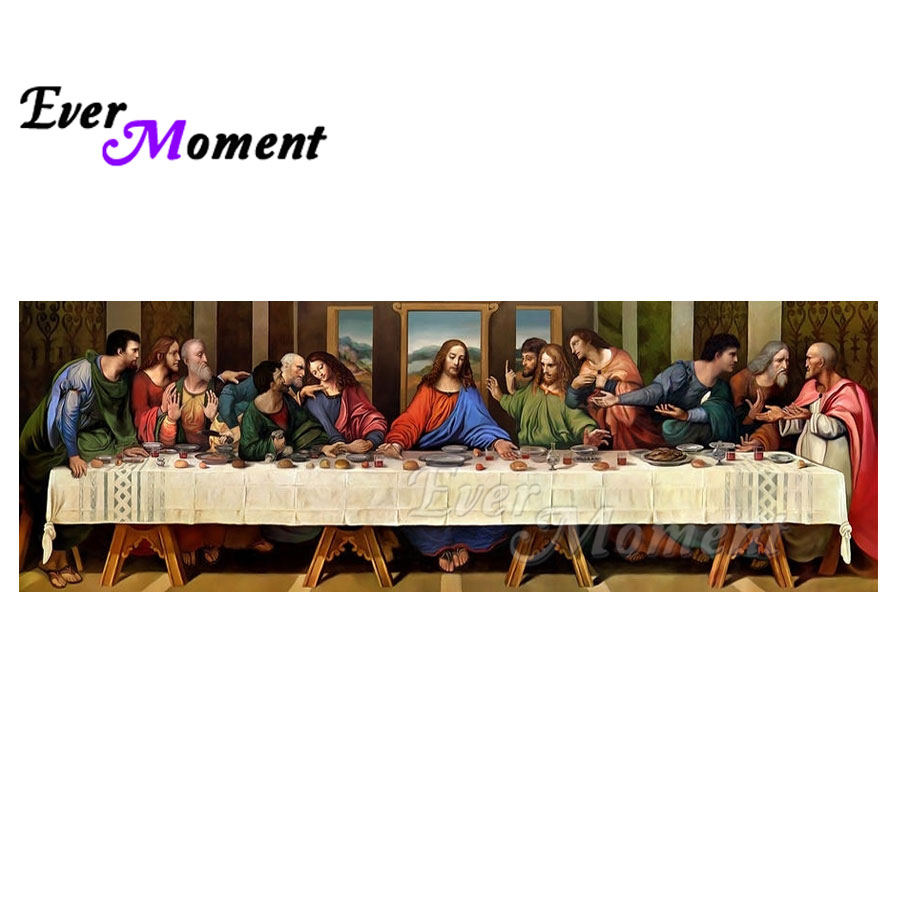 Ever Moment Diamond Painting The Last Supper Jesus Worldwide Famous Painting DIY Diamond Embroidery Full Square Craft ASF1033