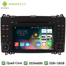 Quad core Android 5.1.1 1024*600 Car DVD Player Radio Audio Stereo Screen GPS For Benz B-class W245 B170 B200 Sprinter W315 W318