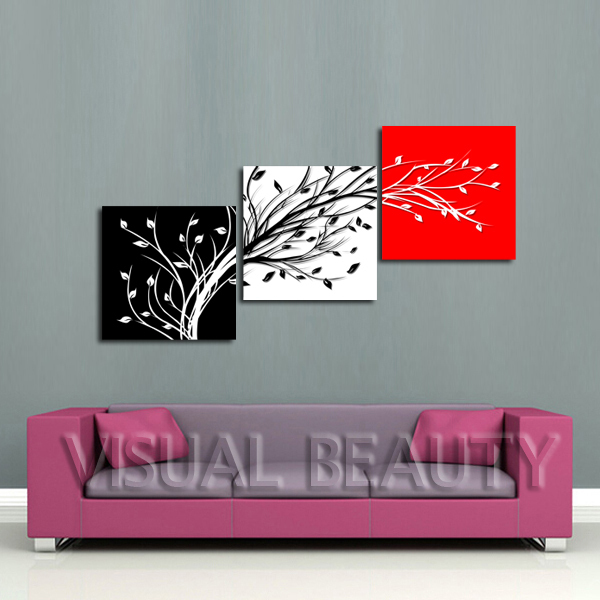 free shipping wonderful tree images ideas for painting modern paintings canvas artunframed50x50cmx3pcs - Modern Painting Ideas