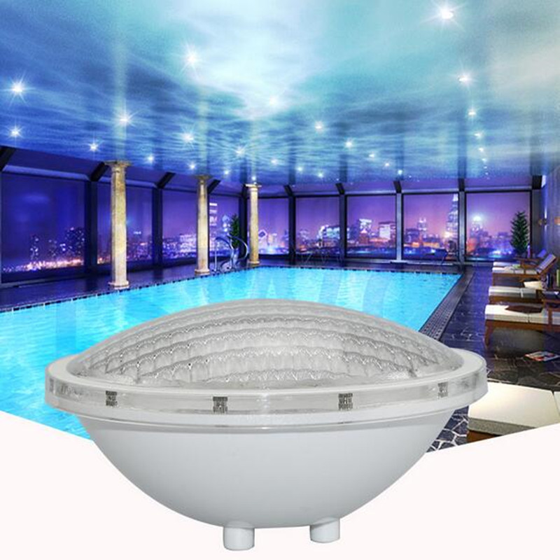 Par56 Underwater Lights 25W LED Swimming Pool Light Resin Filled Piscina Wall Mounted FocoPool Lamp IP68 12V Waterproof Light in LED Underwater Lights from Lights Lighting