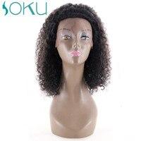 Афро кудрявый вьющиеся Синтетические волосы на кружеве натуральные волосы парики с ребенком волос 150% плотность бразильский Remy натуральные
