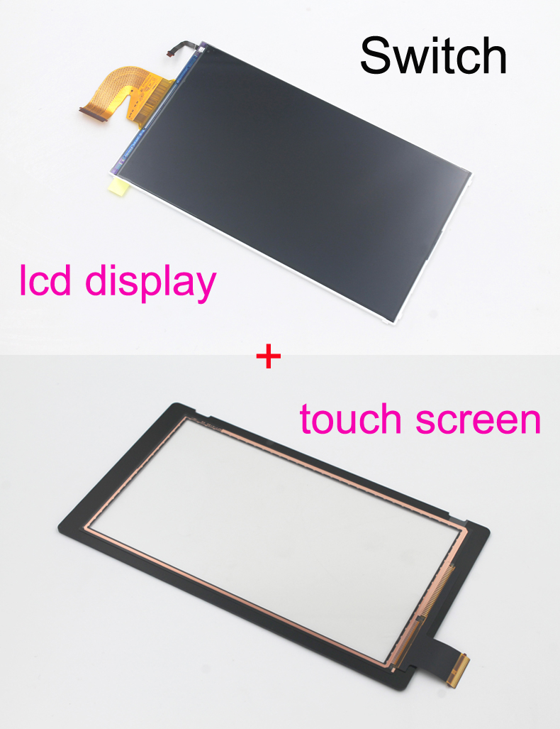 2pcs Original new for Nintend Switch NS console lcd display touch screen replacement free Dustproof double