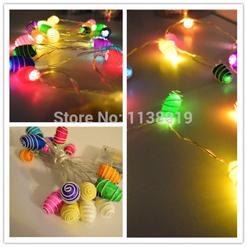 20pcs/sets cocoon party LED multi coloured fairy light battery powered table centre 2.5m