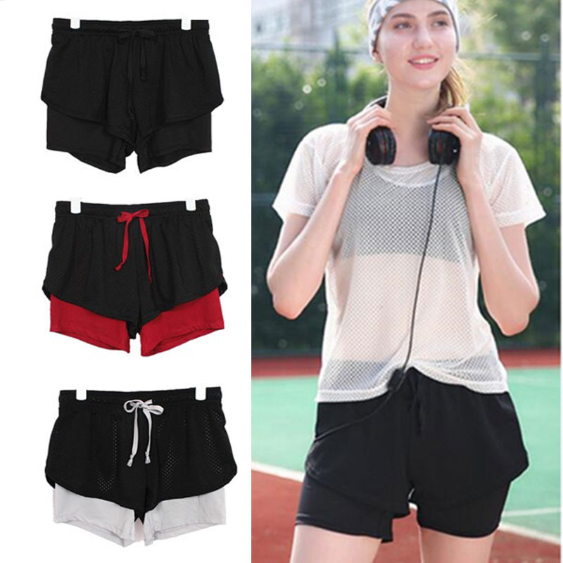 Cotton Blend Pantskirt YOGA SHORTS Lady Soft Clothes Motion Gym Outdoors