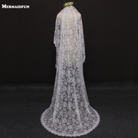 2016 Real Photos Romantic Flower Lace 2 Meters One Layer Wedding Veil With Comb Beautiful Bridal