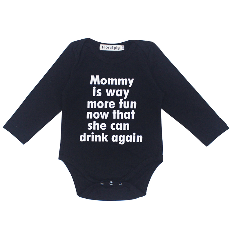 2018 Newborn Baby Girl Boy Clothes Tiny Cottons Autumn Winter Baby Bodysuit Infant Clothing Long Sleeve Costume Onesie Outfits