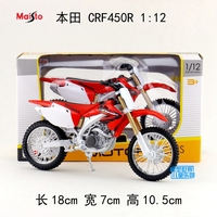 Gift for baby 1pc 1:12 18cm Ducati Honda CRF450R Cross country motorcycle collection plastic alloy model children boy toy