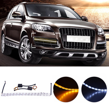Car Flexible LED DRL Strip Light Crystal Tube 16LED Bulbs Daytime Running for Audi A6 C6 A3 A7 A5 Q5 Q7 Car-styling