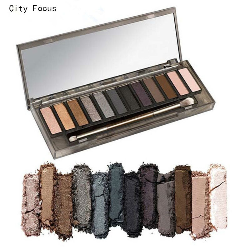 City Focus brand nk smoky eyeshadow palette eye makeup palette with make up brushes maquiagem pigment
