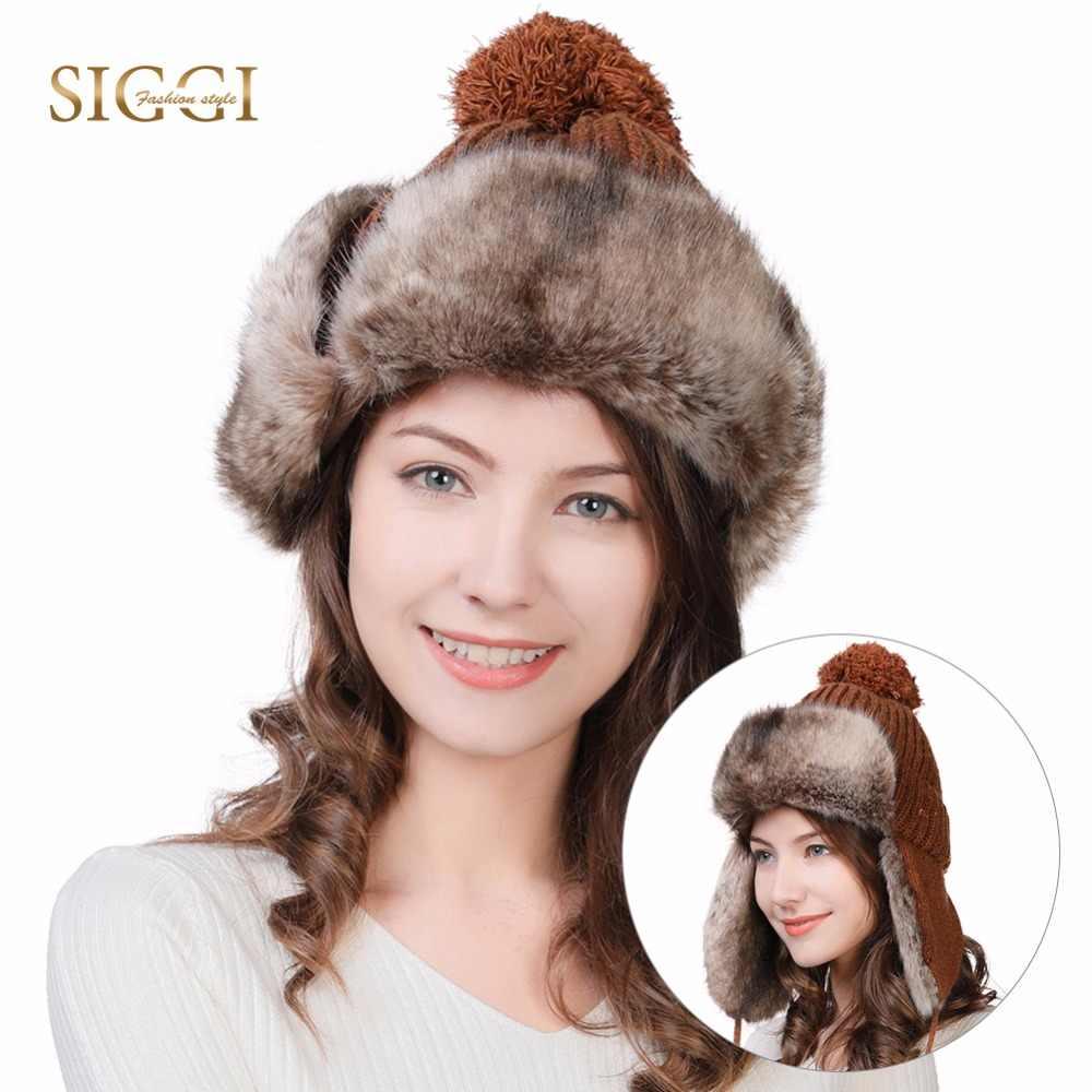 FANCET Winter Faux Fur Bomber Hats For Women Earflaps Wool Knitted Outdoor  Ski Snow Cold Weather Warm Trapper Hat Unshanka 99725|Women's Bomber Hats|  - AliExpress