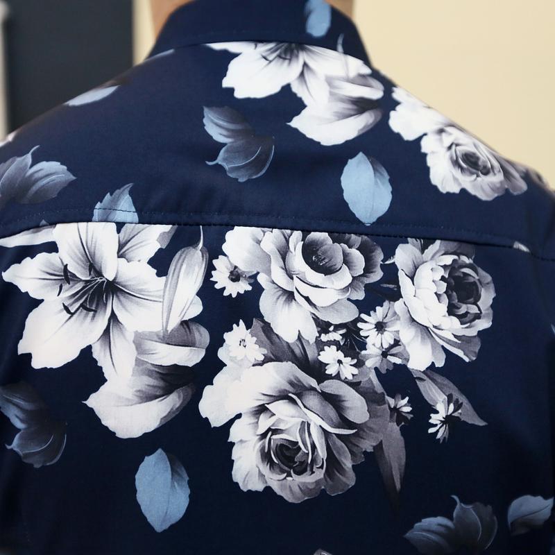 4735f51246349 Men's Designer Hawaii Fashion Flower Classy Funky Cozy Button Casual ...