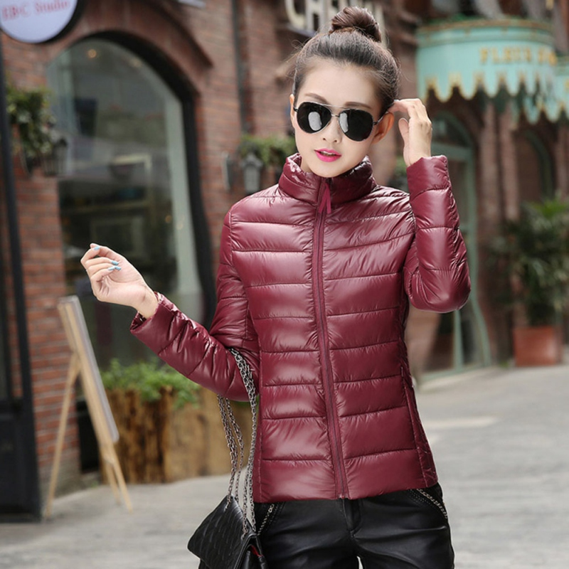 Fashion Girl Warm Winter Coat Cotton Short Slim Cotton Blend Padded Winter Puffer Jacket S