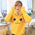 Pokemon Pikachu Do Hoodie Das Mulheres Camisola Hoodies Harajuku Treino Para As Mulheres, Feminino Moletom, Amarelo Pulôver Tops C2398