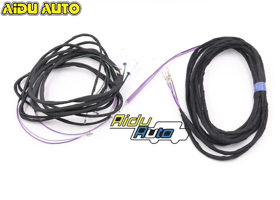 FOR Audi A6 C7 Antiglare Anti glare Dimming Outside Rear View Side Mirror Glass Wire Cable