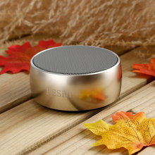 LESHP Metal Portable Wireless Speaker with Super Bass Perfect Sound for Golf Beach Shower Home