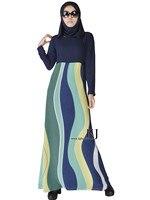 2015 мусульманин Абая платье Исламская одежда для женщин хиджаб Дубай jibabs кафтан Модные Шелковые в полоску абайя Длинные платья kj150308