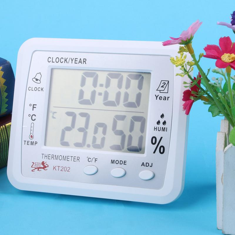ФОТО Indoor Temperature Humidity Display Digital Hygrometer Thermometer Humidity Meter 1pc White