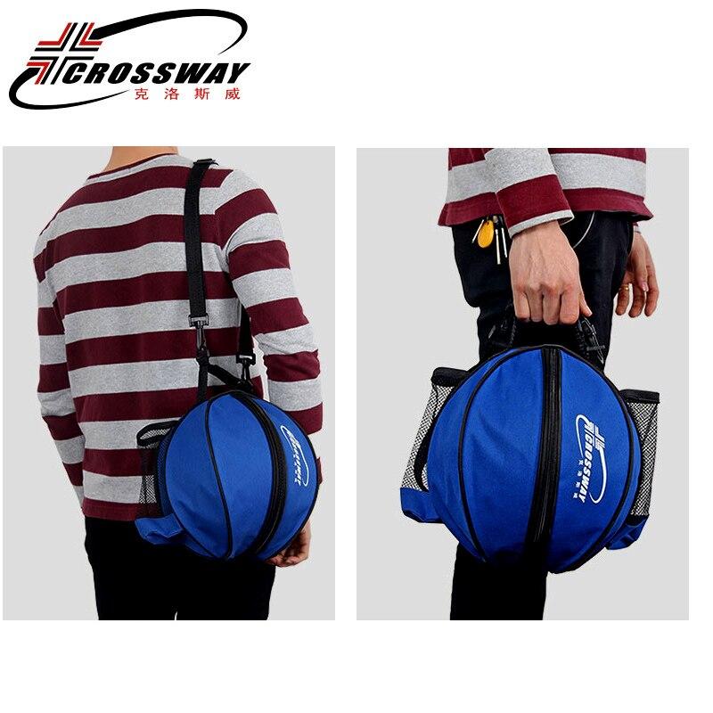 Универсальная спортивная сумка для баскетбола, рюкзак для волейбола, регулируемый плечевой ремень круглой формы, для хранения-1