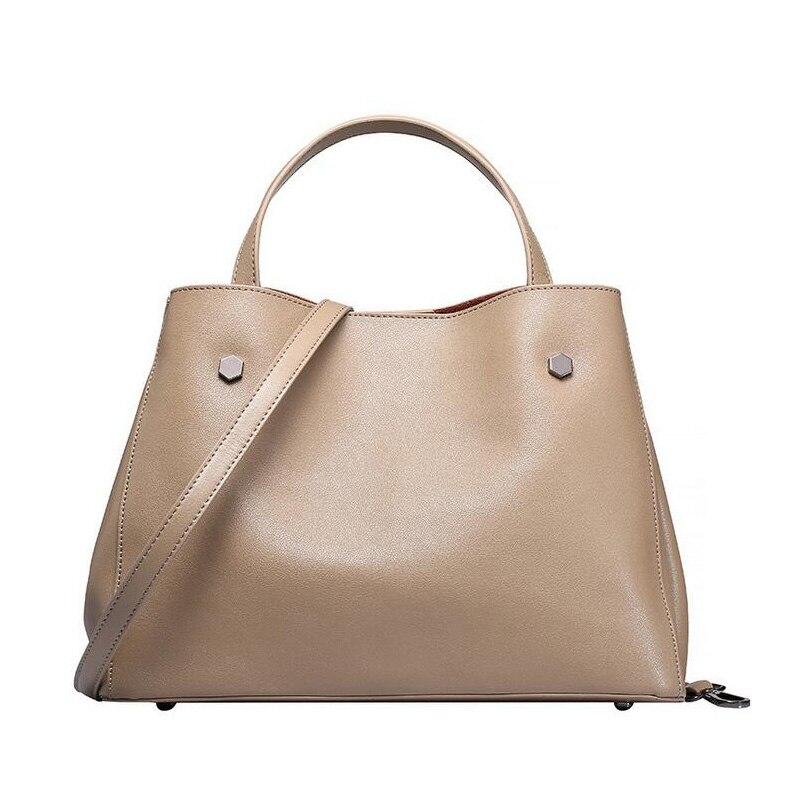2018 Newest Women Genuine Leather Bags Handbags Ladies Hobos Large Capacity Female Shoulder Messenger Bag Casual