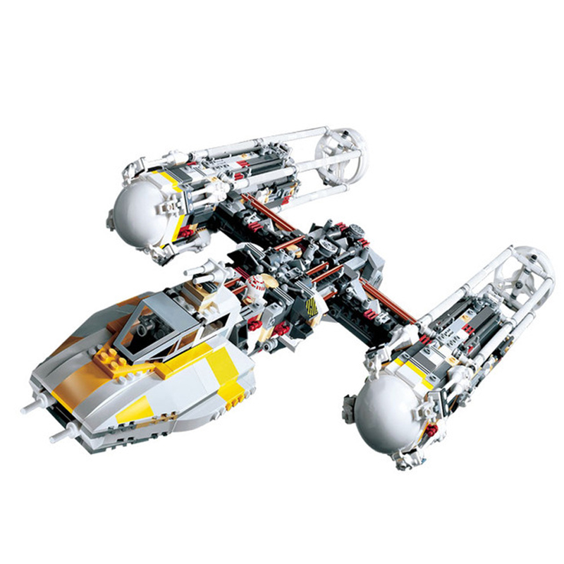 LEPIN 05040 1473Pcs Star Series War Y-wing Attack Starfighter Model Technic Building Kits Blocks Bricks Toys For Children 10134 lepin 05040 y attack starfighter wing building block assembled brick star series war toys compatible with 10134 educational gift