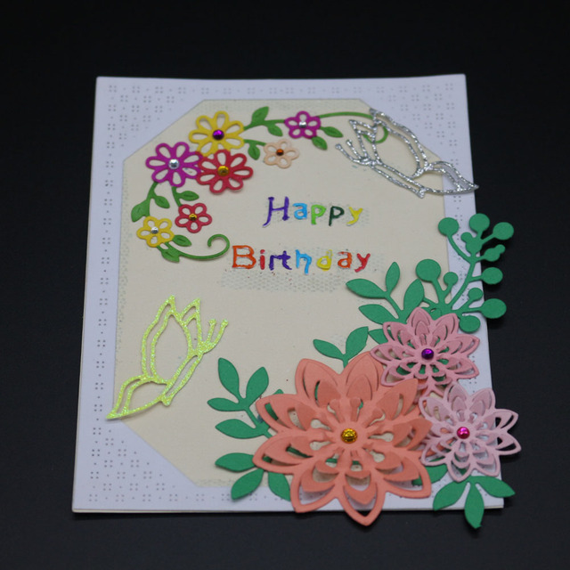 3d flowers cutting dies invatation card diy scrapbooking album paper card photo christmas stamen decorative craft