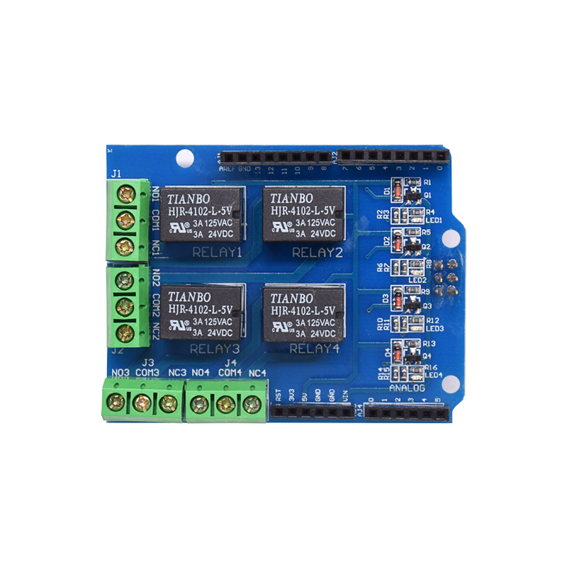 4 Channel 5v Relay Shield Module, Four Channel Relay Control Board Relay Expansion Board For UNO R3 Mega 2560