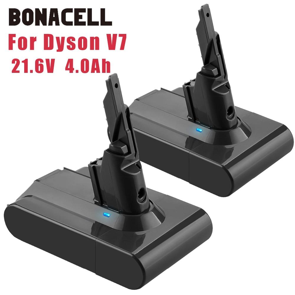Bonacell 21.6V Li-lon Bateria Recarregável Para Dyson 4.0Ah V7 V7 FOFO Animal V7 Motorhead Pro Aspirador de pó substituição L30