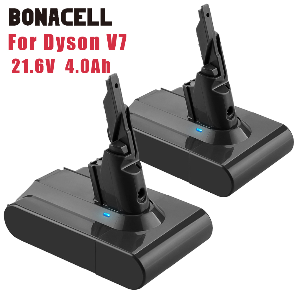 Bonacell 21.6v 4.0ah li-lon bateria recarregável para dyson v7 macio v7 animal pro aspirador de pó substituição l70