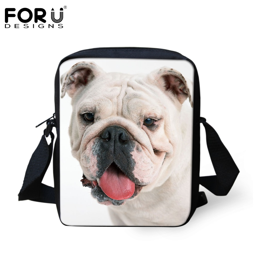 Baby Cute Small Schollbags Bulldog Printed Famous Brand Shoulder Sling Bags for Kindergarten Kids Schoolbags Book Bags Mochila