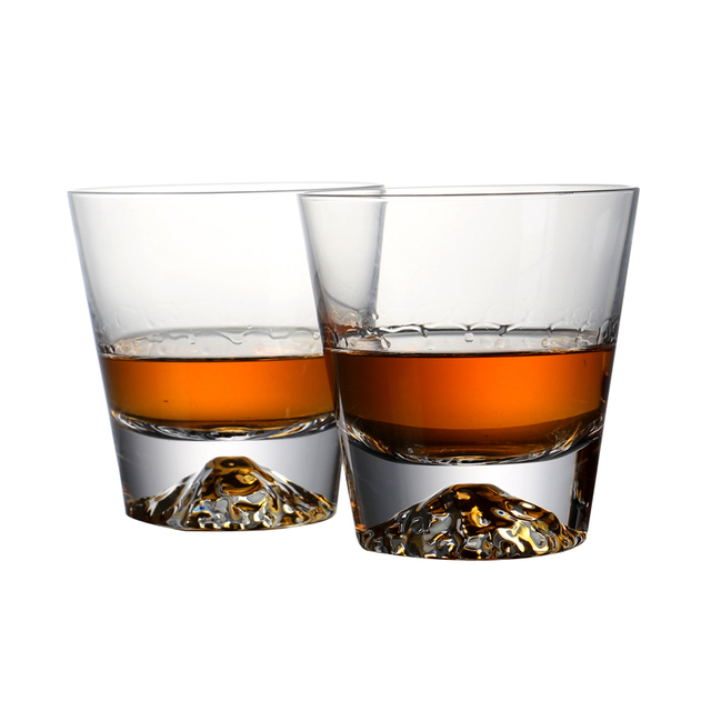 82610af691 Set of 2 250ml heavy base whiskey glasses set lead free crystal  eco-friendly whisky glass with gift for bar party 8.5oz