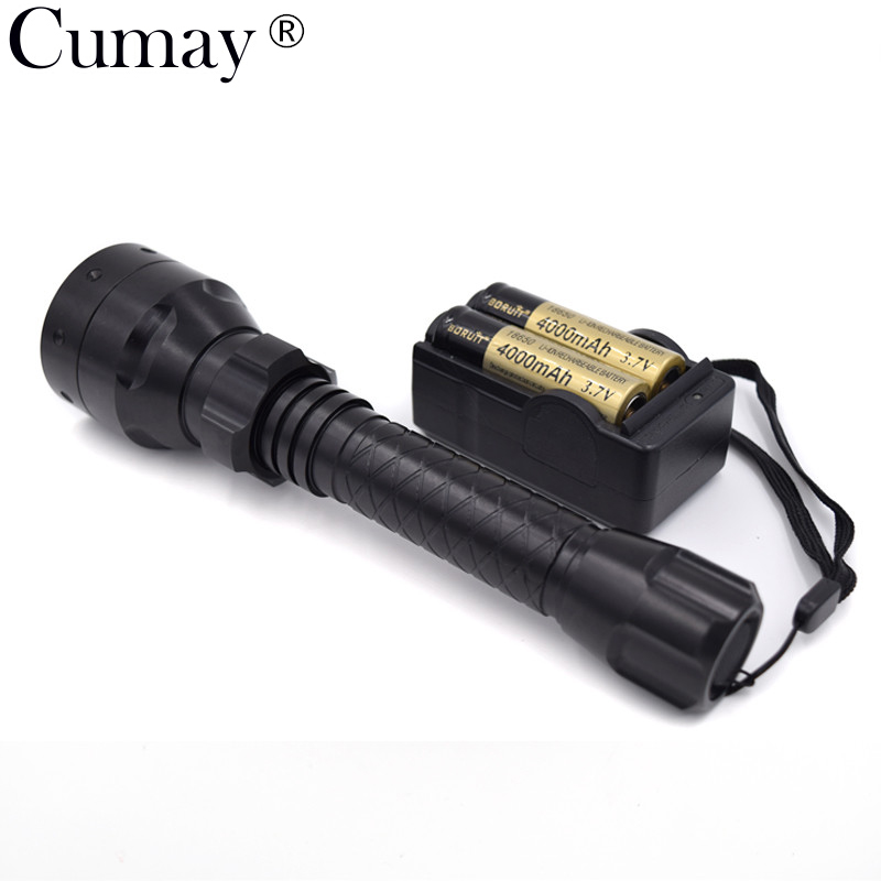 Adjustable IR 850NM LED Infrared Flashlight 38mm lens T38 LED IR 850NM Torch For Outdoor Hunting