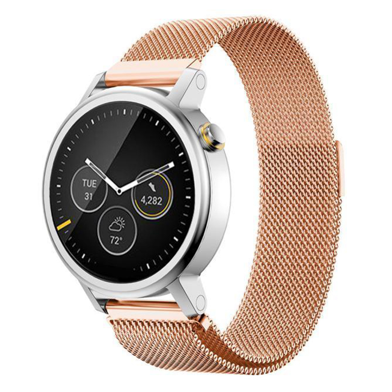 Milanese Magnetic Loop Stainless Steel Band For MOTO 360 2nd Smart Watch Rose Gold 42MM milanese magnetic loop stainless steel band for moto 360 2nd smart watch sliver 42mm